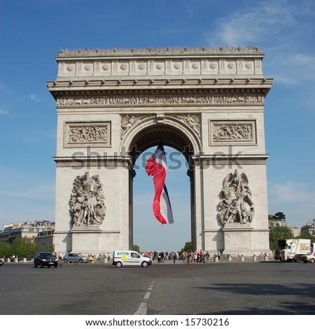 Arc de Triomphe - Paris - stock photo