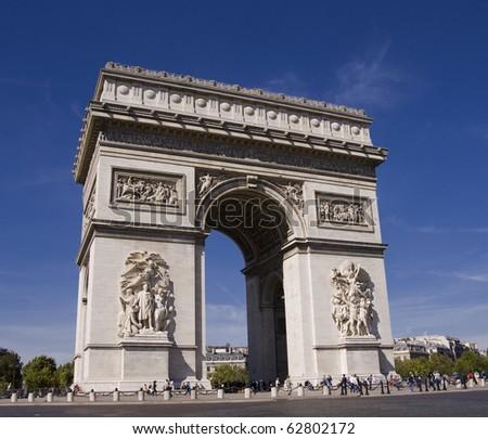 Arc de triomphe Paris - stock photo