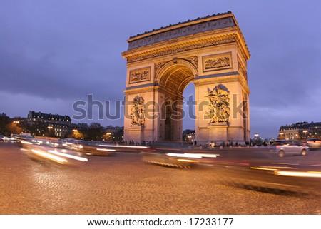 Arc de Triomphe. Paris, France - stock photo