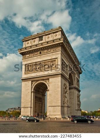 Arc de triomphe - Paris - France  - stock photo