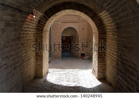 Arc in the inner yard of old fortress in Shush, Iran