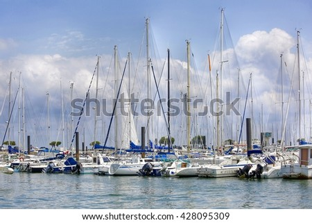 ARCACHON, FRANCE - May 27, 2016: Boats parked in the Port of Arcachon