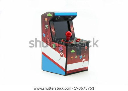 arcade box isolated on white background - stock photo
