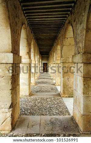 Arcade passageway in Lerma, Spain