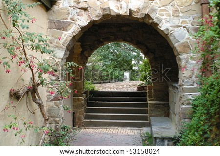 arch and pathway