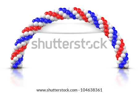 Arch Balloons - stock photo