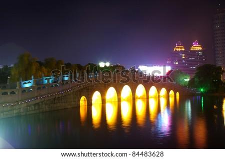 Arch bridge - stock photo