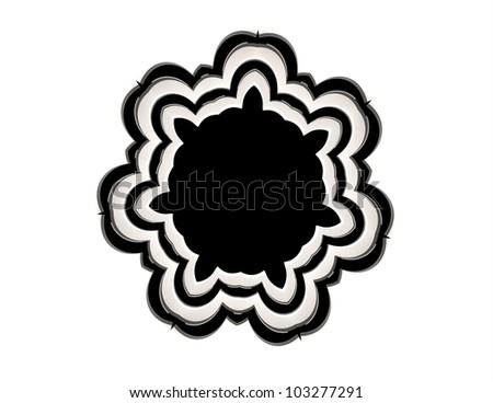 Arch Flower Withe - stock photo