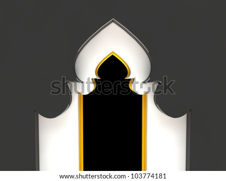 Arch Grey and Gold - stock photo