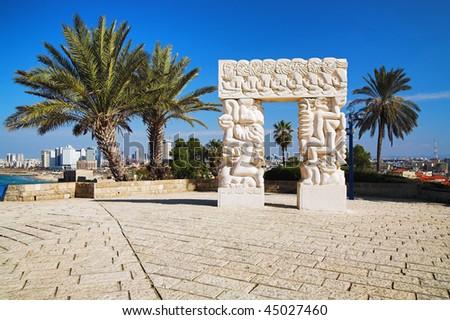 Arch in Jaffa, Israel - stock photo