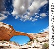 Arch in Natural Bridges National monument - stock photo