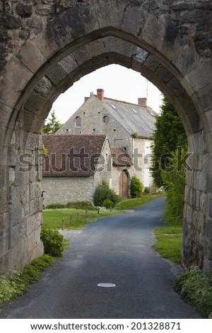 Arch in Yevre-le-chatel, Loiret, Centre, France - stock photo