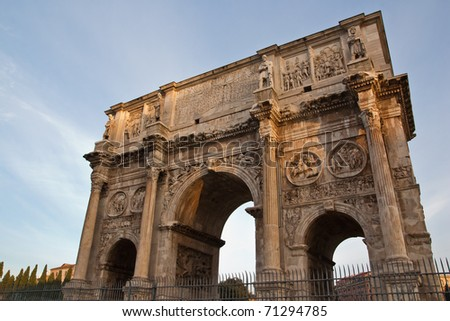 Arch of Constantin - stock photo