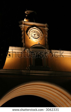 arch of de santa catalina antigua guatemala - stock photo