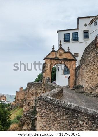 Arch of Philip V in Ronda - stock photo