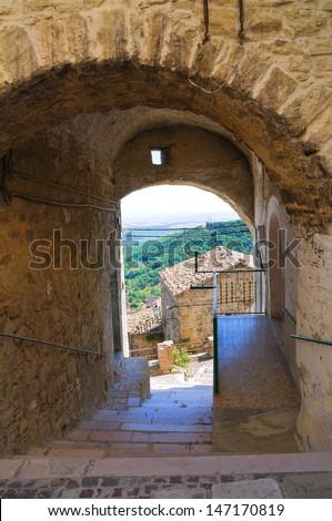Arch of the Thousand. Alberona. Puglia. Italy. - stock photo