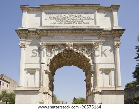 arch of titus - stock photo