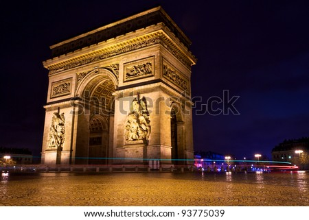 Arch of Triumph, Paris, France - stock photo