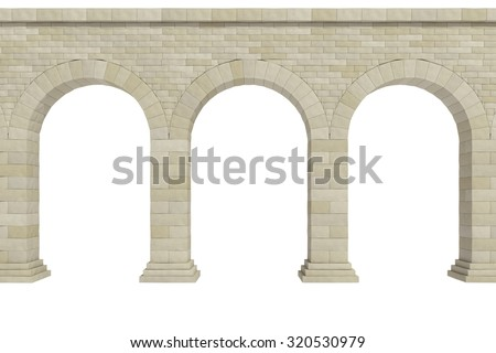 arch on a white background - stock photo