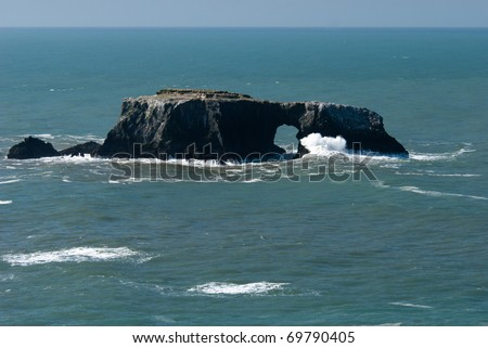 Arch Rock at Goat Rock, Sonoma Coast State  Beach, California