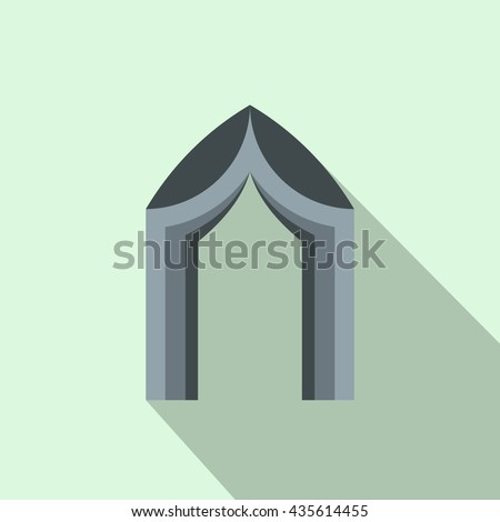 Arch tent icon, flat style - stock photo