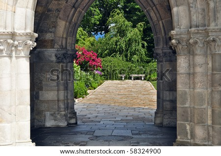Arch View - stock photo