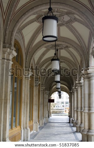 Arch with Lanterns - stock photo
