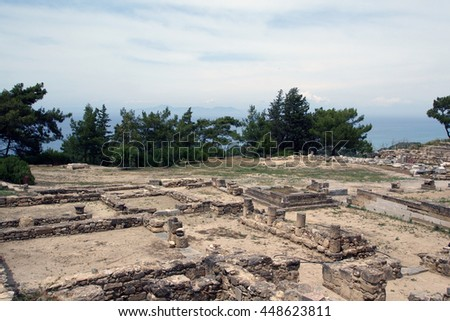 Archaeological excavations in Camrose. The Island Of Rhodes. Greece
