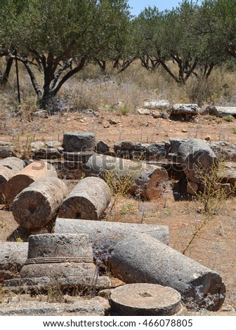Archaeological finds from an ancient villa at Aptera, Crete