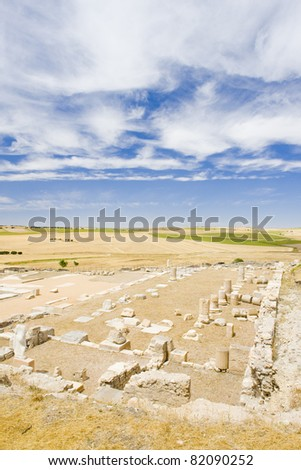 archaeological place, Roman city of Segobriga, Saelices, Castile-La Mancha, Spain
