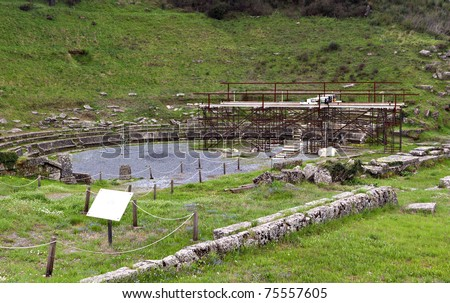 Archaeological site of ancient Megalopolis at Arcadia, Greece