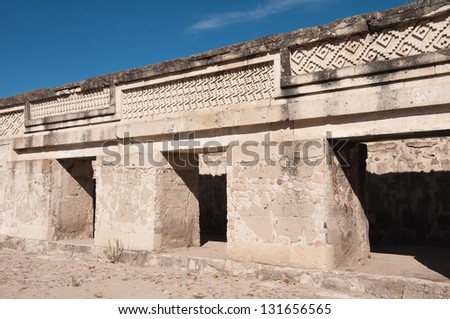 Archaeological site of Mitla, Oaxaca (Mexico) - stock photo