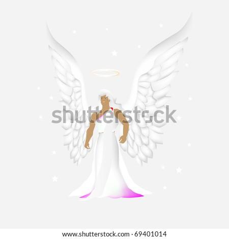 Archangel Chamuel (Archangel of love) - stock photo