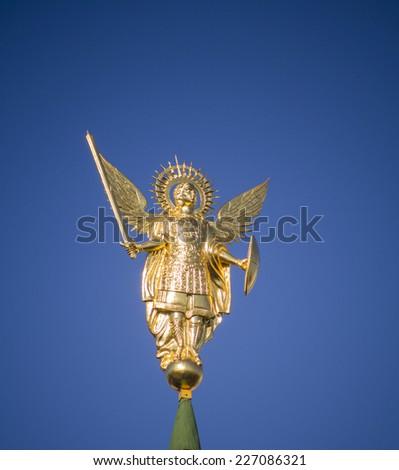 Archangel Michael in St. Sophia monastery, Kiev, Ukraine - stock photo