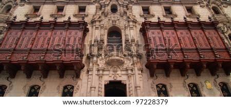 Archbishop's Palace, Lima, Peru - stock photo