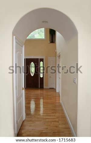 Arched hallway - stock photo