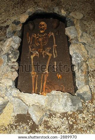 archeologic discovery - stock photo
