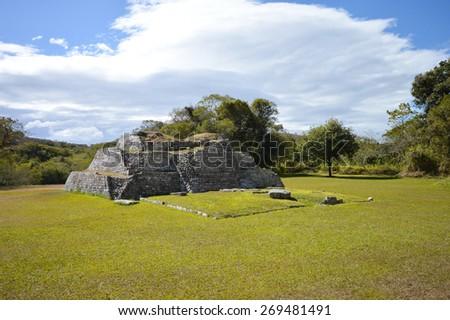 Archeological site of Tenam Puente in Chiapas, Mexico - stock photo
