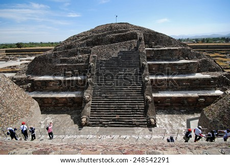 Archeological tourist attraction, Teotihuacan, Mexico - stock photo