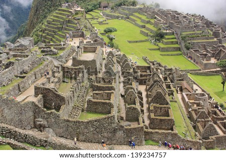 Archeology Ancient Aztec Civilization Inca Peru Stock ...