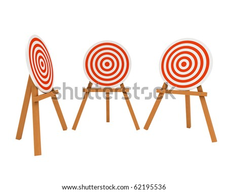 archery range target from different view angle - stock photo