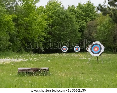 Archery shooting target - stock photo