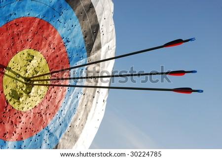 Archery target - stock photo