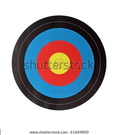 archery target isolated on white