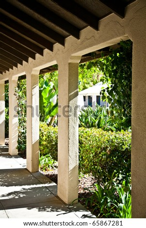 Arches and columns - stock photo