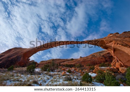 Arches at dawn Utah - stock photo