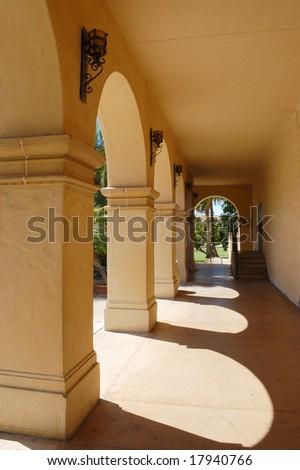 Arches; Balboa Park; San Diego, California - stock photo