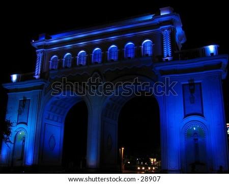 Arches in Guadalajara, Mexico - stock photo