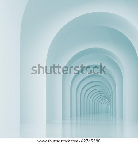 Arches Interior - stock photo