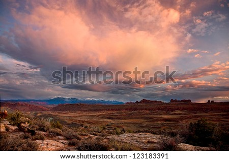 ARCHES NATIONAL PARK 16 - stock photo